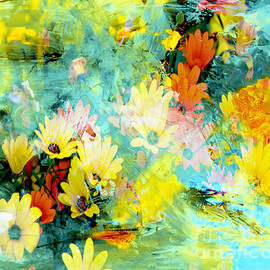 Abstract Spring Wildflowers by Beverly Guilliams