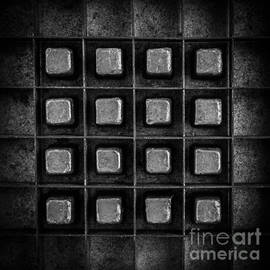 Abstract Squares Black and White by Edward Fielding