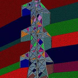 Abstract Towering Power  by Joseph Baril