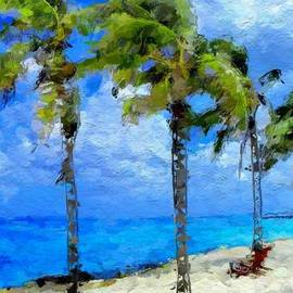 Anthony Fishburne - Abstract tropical Palm beach