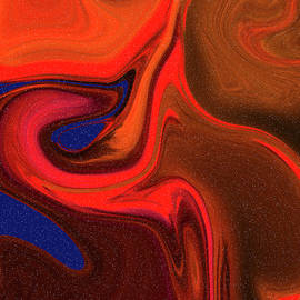 Abstract Union 2 Vertical Fire by Lesa Fine