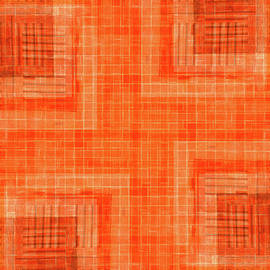 Abstract Window On Orange Wall by Silvia Ganora