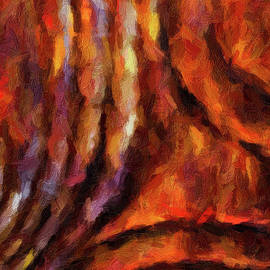 Amy Cicconi - Abstract242 digital oil painting full of texture and bright colors