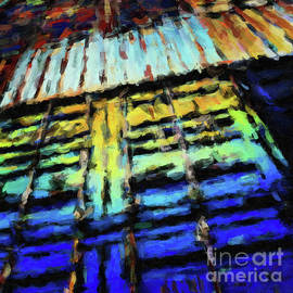 Amy Cicconi - Abstract288 digital oil painting full of texture and bright color