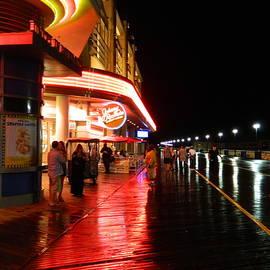 Arlane Crump - Atlantic City Boardwalk at NIght