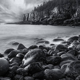 Acadia Radiance - Black and White by T-S Photo Art