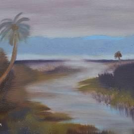 Across the Wetlands Oil by Warren Thompson