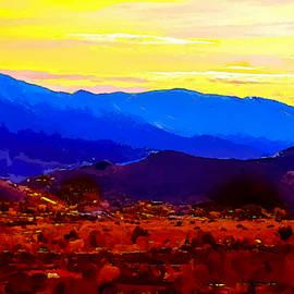 Acton California Sunset by Dr Bob Johnston