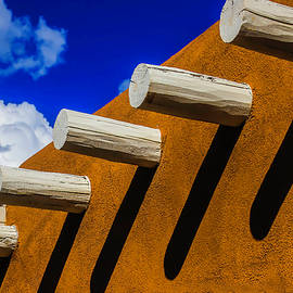 Adobe Wall With White Beams - Garry Gay