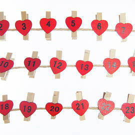 Advent Hearts On A Line by Helen Northcott