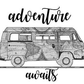 adventure awaits world map design - Bekim Art