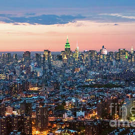 Matteo Colombo - Aerial of Midtown Manhattan with Empire state building, New York
