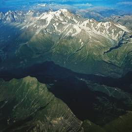 Aerial Photograph Of The Swiss Alps by Samuel Pye