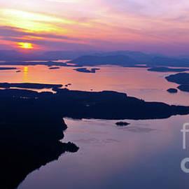 Aerial San Juan Island Sunset Views - Mike Reid