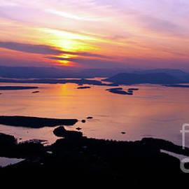 Aerial San Juan Islands Sunset Tranquility - Mike Reid