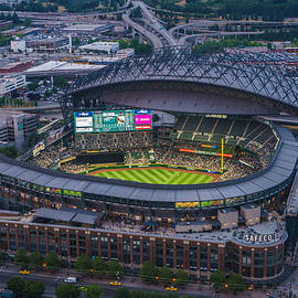 Aerial Seattle Safeco Field Mariners by Mike Reid