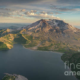 Aerial Spring Mount St Helens and Spirit Lake - Mike Reid