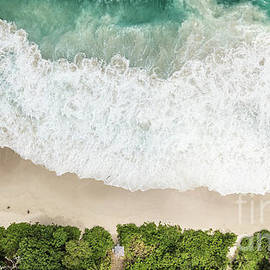 Aerial View Of Anse Intendance - Mahe - Seychelles by Pier Giorgio Mariani