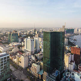 Aerial View Of Ho Chi Minh City In Vietnam by Didier Marti
