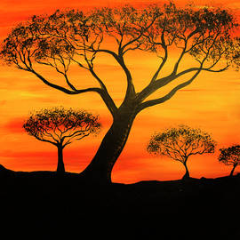 African Safari/Trees by Tina Law