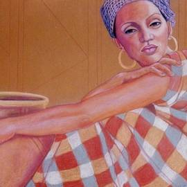 African Woman With Pot 2 by Pamela Mccabe