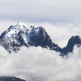 Aiguille Verte and Aiguille du Dru in the clouds - Chamonix - French Alps by Paul MAURICE