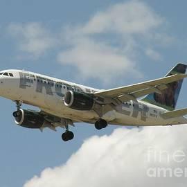 Airbus A320 Denver International Airport by R Muirhead Art