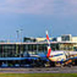 Panorama of the airport in Vancouver