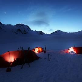 David Broome - Alaska Range Basecamp Twilight