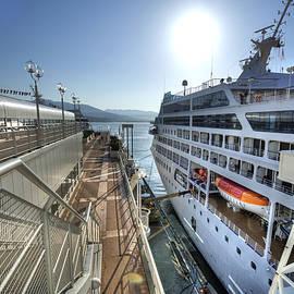 Alaskan Cruise Ship Berthed in Vancouver by Doug Matthews