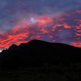 Albion Mountain Silhouetted by Robert Bales