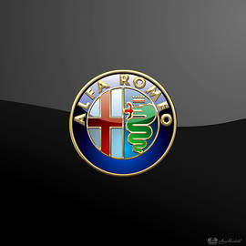 Alfa Romeo - 3 D Badge on Black