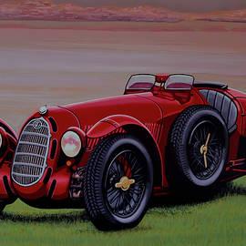 Paul Meijering - Alfa Romeo 8C 2900A Botticella Spider 1936 Painting