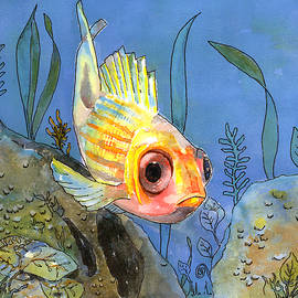 All Alone - Squirrel Fish by Arline Wagner