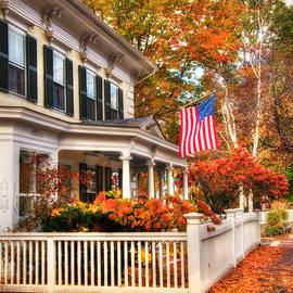 Joann Vitali - All American Street in Autumn - Woodstock, Vermont