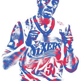 Allen Iverson PHILADELPHIA 76ERS PIXEL ART 13 - Joe Hamilton