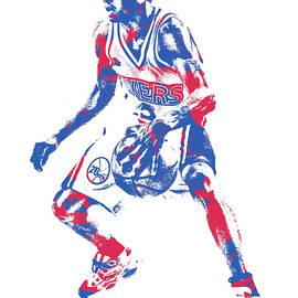 Allen Iverson PHILADELPHIA 76ERS PIXEL ART 16 - Joe Hamilton