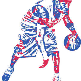 Allen Iverson PHILADELPHIA 76ERS PIXEL ART 17 - Joe Hamilton