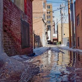 Alley Ice Fall by Dutch Bieber