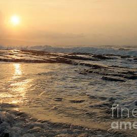 Aloha Oe Sunset Hookipa Beach Maui North Shore Hawaii by Sharon Mau