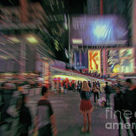 Alone In New York City 5 by Jeff Breiman