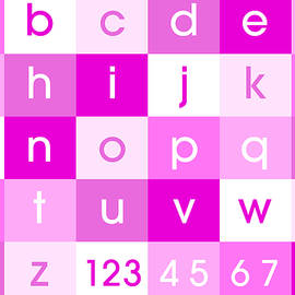 Alphabet Pink by Michael Tompsett