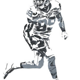 Joe Hamilton - Amari Cooper OAKLAND RAIDERS PIXEL ART 11