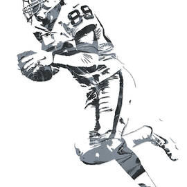 Amari Cooper OAKLAND RAIDERS PIXEL ART 12 - Joe Hamilton
