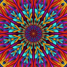 Natalia Bykova - Amazing colors 3D mandala