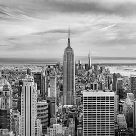 Amazing Manhattan BW by Az Jackson
