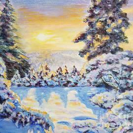 Amazing Sunset in the amazing winter forest by Olga Malamud-Pavlovich