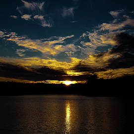 Amazing Sunset On Nicks Lake by David Patterson