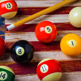 Garry Gay - American Flag And Pool Balls