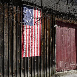 American Flag on a Barn - Edward Fielding